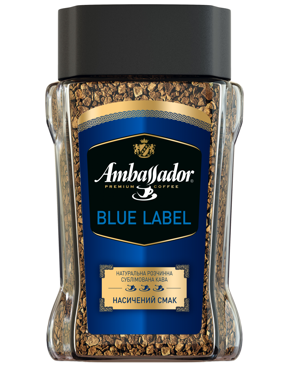 PreviousNext Кофе растворимый Ambassador Blue Label, сткл.б. 95г*
