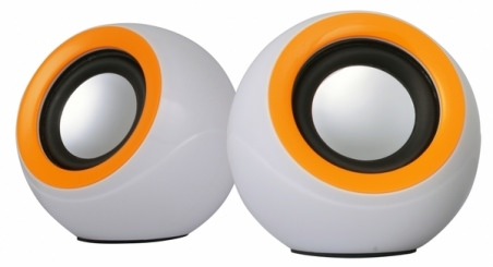 АККУСТИКА OMEGA 2.0 OG-116B WHITE ORANGE 2X3W USB