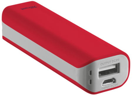 powerbank TRUST Primo 2200 red
