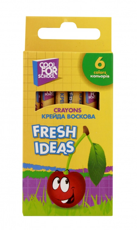 Мел восковой Fresh Ideas, 6 цветов