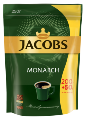 Кофе растворимый Jacobs Monarch, 250г , пакет